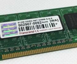 Módulo de memoria Transcend 512MB DDR2 667 DIMM 5-5-5  JM367Q643A-6