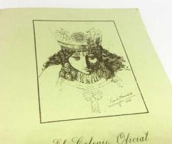 Programa de El Colegio Oficial de Agentes Comerciales de Valencia a la Patrona la Virgen de los Desamparados – 1950