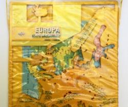 Plantillas Mapa de Europa Político, físico e Hidrográfico – DFH – Años 70