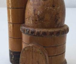 Porta tenedores de madera para aperitivos – Años 80