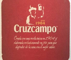 Posavasos cerveza Cruzcampo