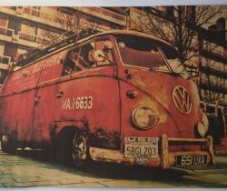 Póster Volkswagen T1 51×35,5cm VW