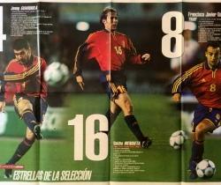 Póster gigante y desplegable Eurocopa 2000 – Selección Española – Revista Interviu