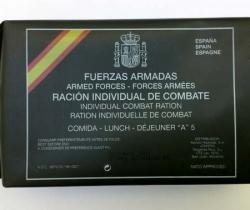 Ración individual de combate – Fuerzas Armadas – Comida B Menú nº5 – Ministerio de Defensa – Cad. 2011 – Sin abrir