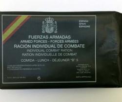 Ración individual de combate – Fuerzas Armadas – Comida B Menú nº5 – Ministerio de Defensa – Caducidad 2011
