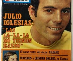 Revista Garbo – nº 922– 4 de Noviembre de 1970 – Julio Iglesias – Mónica Randall
