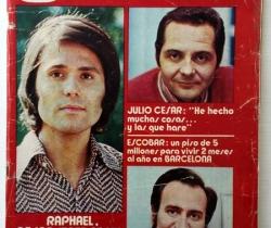 Revista Garbo – nº 986 – 22 de Marzo de 1972 – Raphael – Julio César – Manolo Escobar