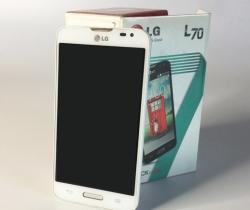Smartphone LG L70 D320 + Funda original Quick Window (SIN CARGADOR)