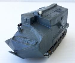 Tanque militar anfibio artesanal de hojalata – años 40