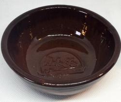 Tarrina de barro Adolfo Helados (marrón oscura)