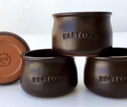 Lote 4 Tarrinas de cerámica crema de chocolate Pastoret – Cermer