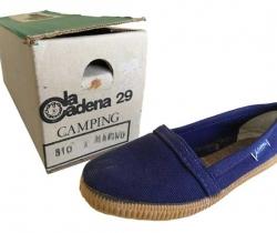Zapatillas de lona La Cadena Modelo Camping nº29 – Años 80