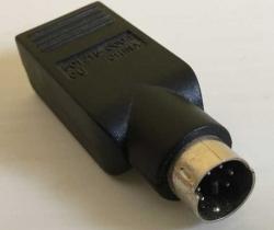 Adaptador USB Hembra a PS2 Macho – miniDIN6-M a USB-H