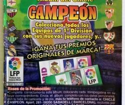Álbum incompleto con 195 cromos Campeón Liga 96/97