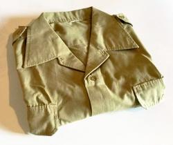 Ropa Servicio Militar español año 1980 – camisa manga corta uniforme soldado