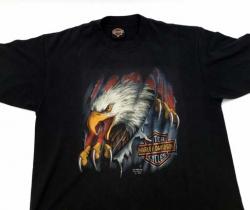 Camiseta Vintage Harley Davidson 3D Emblem 1990 – Águila – Eagle – XL