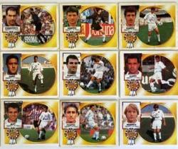 Lote 14 cromos Ediciones Este – Liga 94/95 – Valencia C.F.