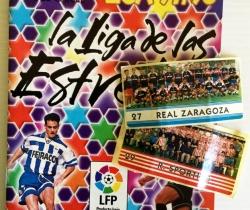 Álbum Chicle Liga 97/98 La Liga de las Estrellas + 2 Cromos