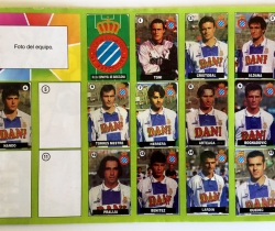 Álbum Chicle Liga de las Estrellas 96-97 R.C.D. Espanyol de Barcelona