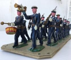 Lote desfile de 20 soldaditos marines años 40 – Posible Torres Malta