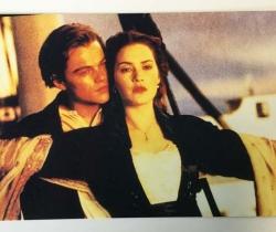 Lote de una foto y una postal película Titanic