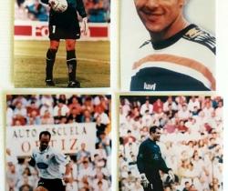 Lote 4 fotos Valencia CF – Claudio López, Zubizarreta, Fernando – 1995