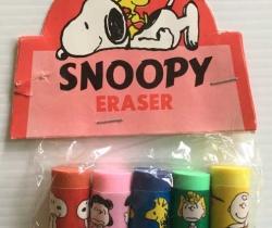 Gomas de borrar Nuevas – Snoopy Eraser años 80 – Charly Brown, Sally Brown, Lucy Van Pelt, Woodstock