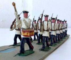 Lote desfile de 19 soldaditos años 40 – Posible Torres Malta