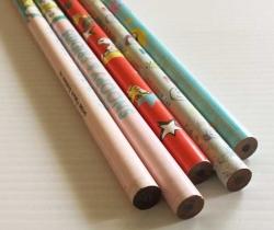 Lote 5 lápices HB Snoopy años 80 – Charly Brown, Sally Brown, Lucy Van Pelt, Woodstock
