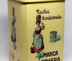 Lata metálica Conmemorativa 100 años Nestlé – Leche condensada marca La Lechera
