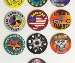 Lote 10 tazos Slammer American Game