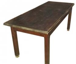 Antigua mesa de madera de pino 6/8 comensales