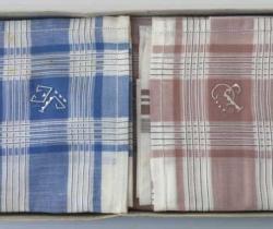 Caja de 6 pañuelos caballero hombre años 60