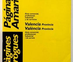 Guía Telefónica – Páginas Amarillas – Guía comercial, profesional, industrial y de servicios Valencia Provincia – 97/98
