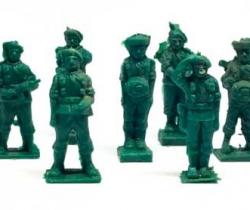 Lote 9 Paracaidistas Cacao Toddy números 2, 3, 4, 5, 7, 9, 10, 11 y 12 – años 60