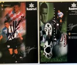 Lote 2 postales Luanvi Valencia CF – Firma de Goran Vlaovic