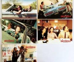 Lote 5 postales publicitarias de Chesterfield Experience