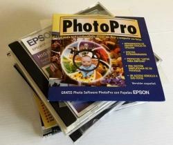 Lote 9 CDS programas de Diseño variados – PhotoPro – PC World – Computer Idea – PC PRO – Epson – Años 90