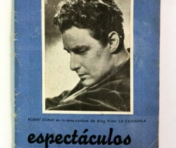 Revista espectáculos – Programa de la semana 49 – Noviembre 1943 – Robert Donat