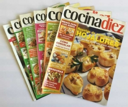 Lote 6 revistas Cocina Diez, suplementos de la revista Casa Diez