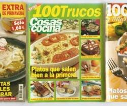 Lote 3 revistas Cosas de Cocina nº 47 y 2 suplementos de Cosas de Casa 100 trucos del nº 100 y 100 recetas del nº 125