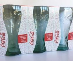 Pack 3 vasos Coca Cola 50 Aniversario en Turquía 360ml
